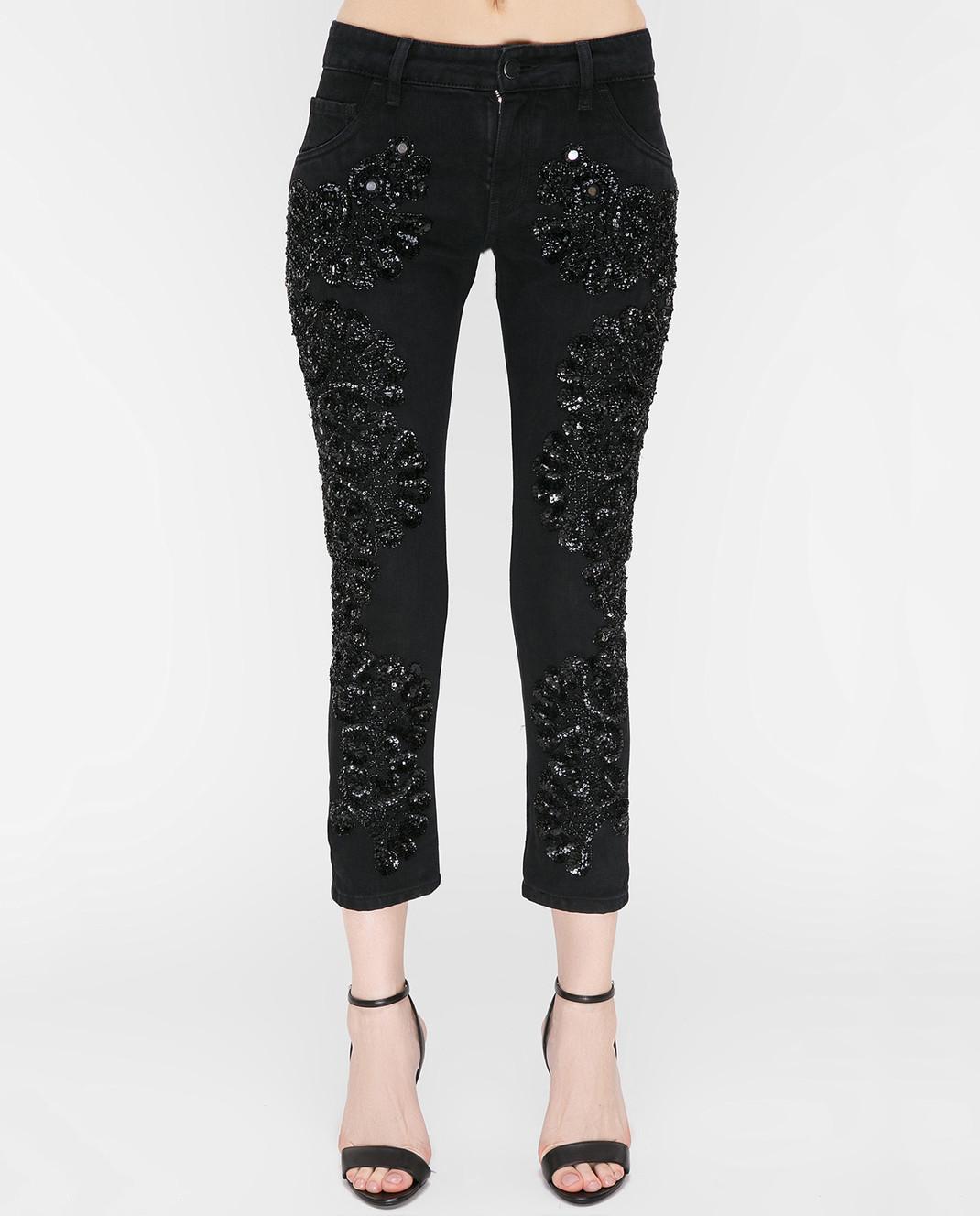 Amen Черные джинсы с пайетками ACS17607 изображение 3