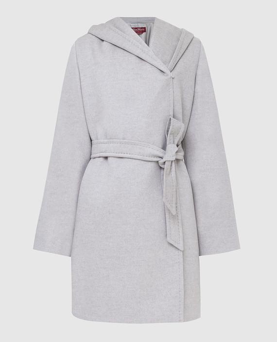 Серое пальто из кашемира