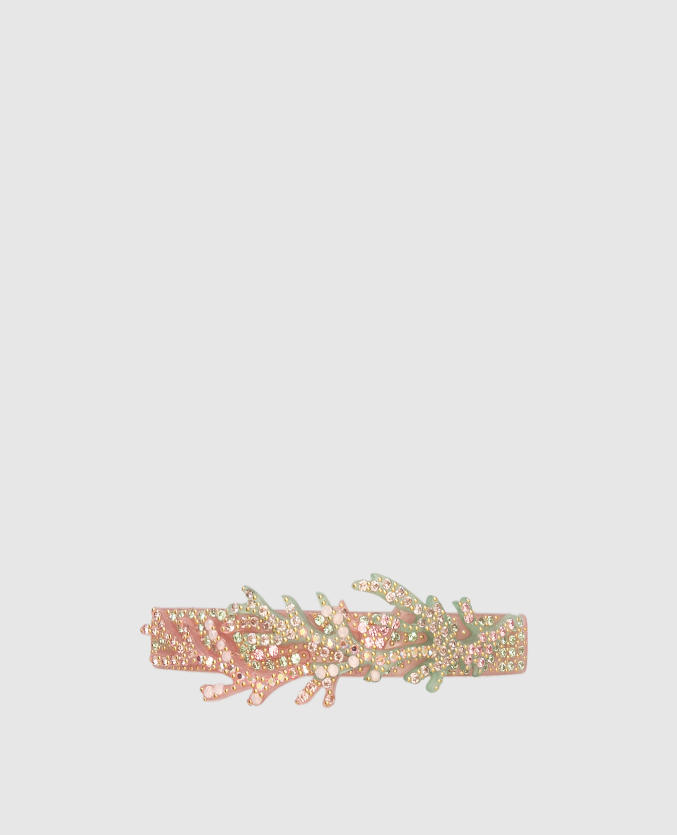 Розовая заколка с кристаллами Swarovski