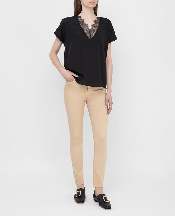 Бежевые джинсы hover