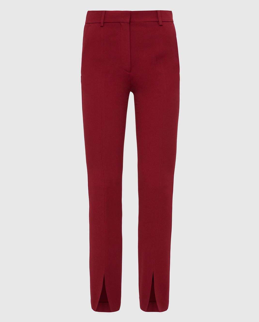 Victoria Beckham Бордовые брюки изображение 1