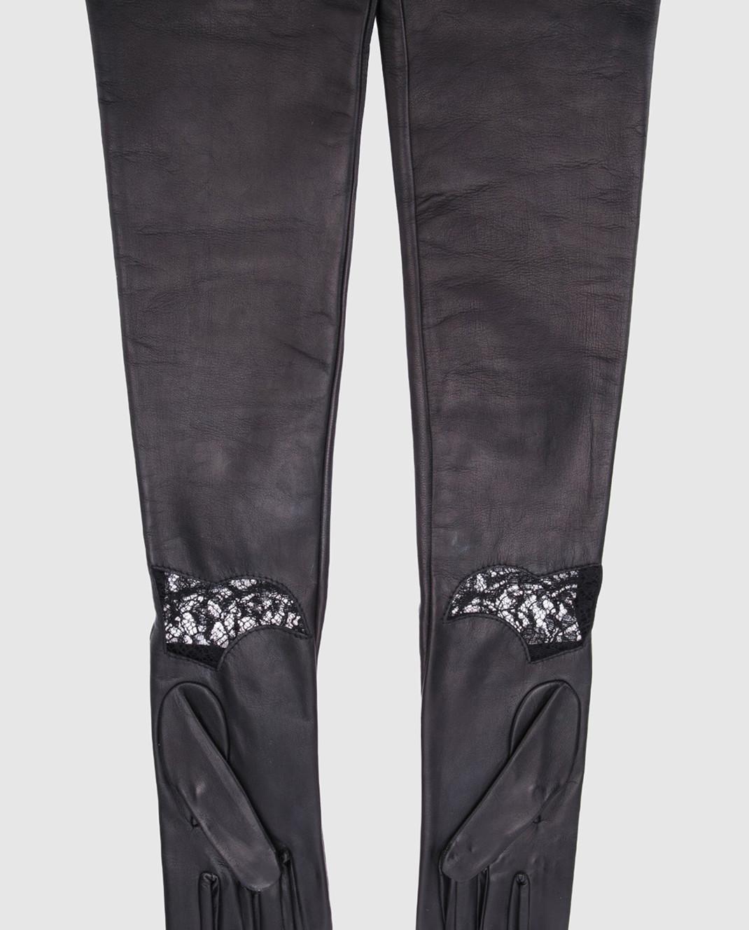 Rindi Черные перчатки с кружевом изображение 2
