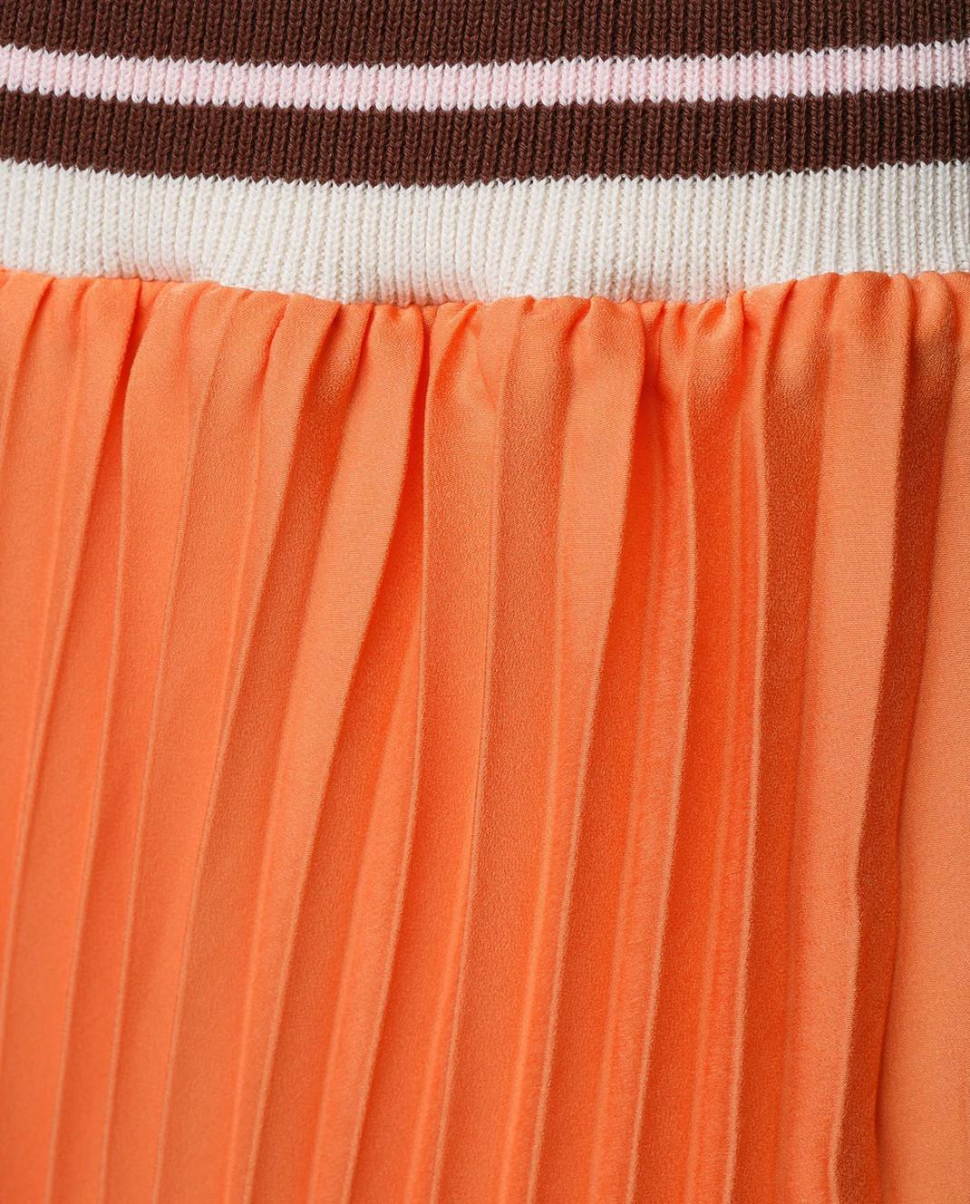 Blugirl Оранжевая юбка-плиссе 3321 изображение 5