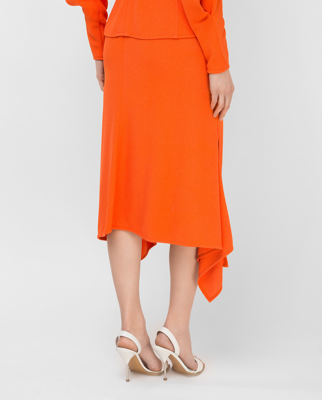 Victoria Beckham Оранжевая юбка SKMID3315 изображение 4