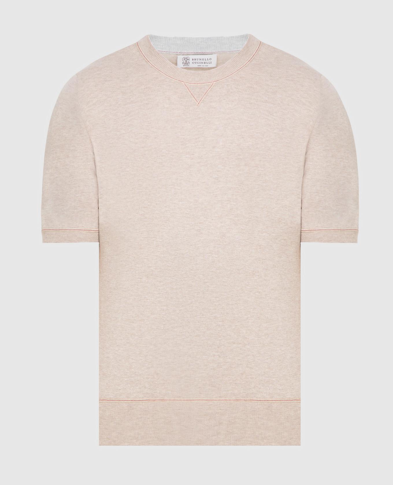 Светло-бежевая футболка Brunello Cucinelli