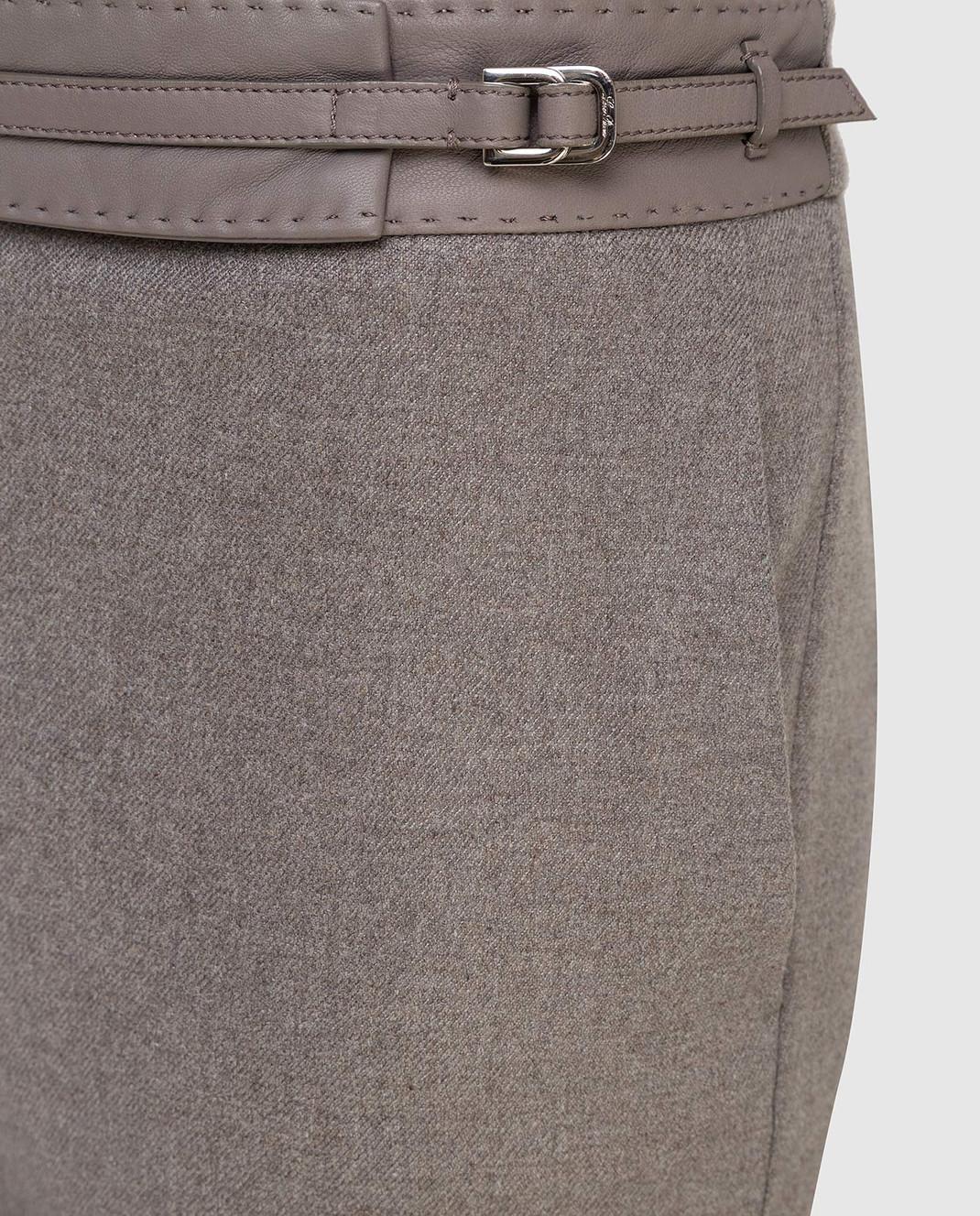 Loro Piana Серые брюки из кашемира F1FAF8151 изображение 5