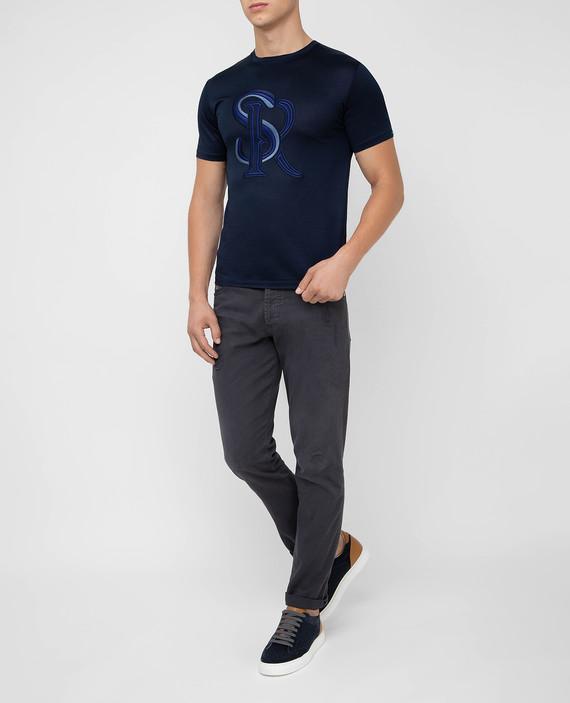Темно-синяя футболка hover
