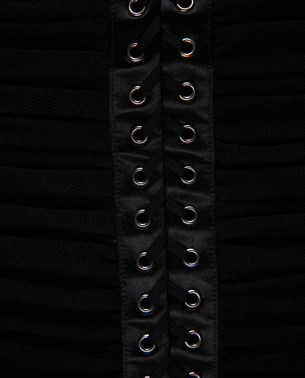 Dolce&Gabbana Черное платье F6A9QTFLEAA изображение 5
