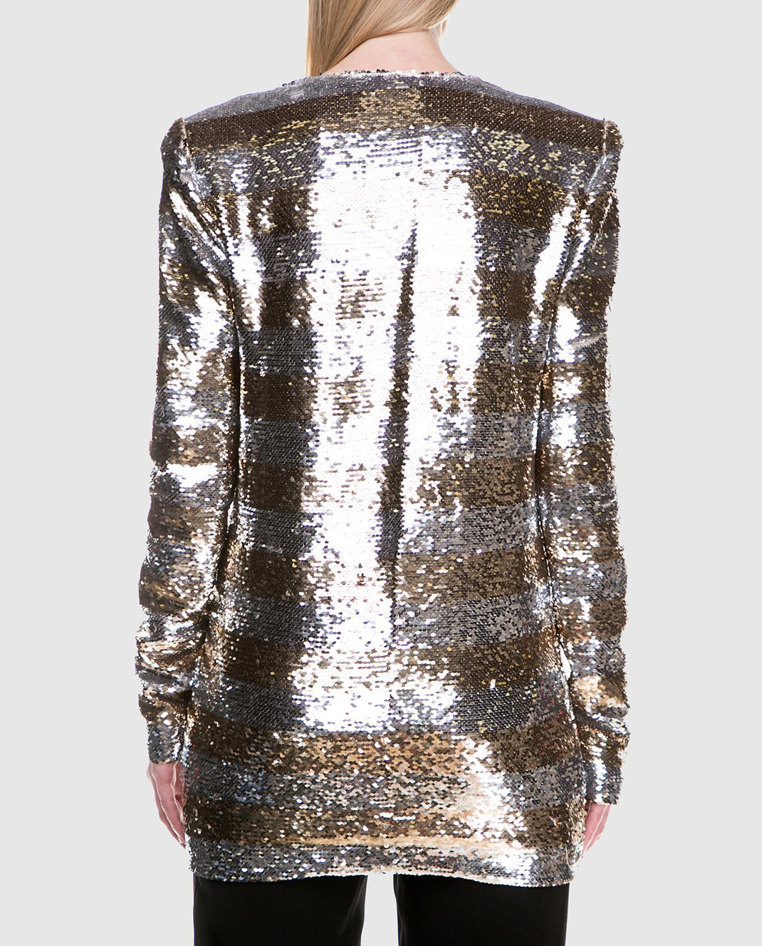 Balmain Серебристая блуза с пайетками 131513 изображение 4