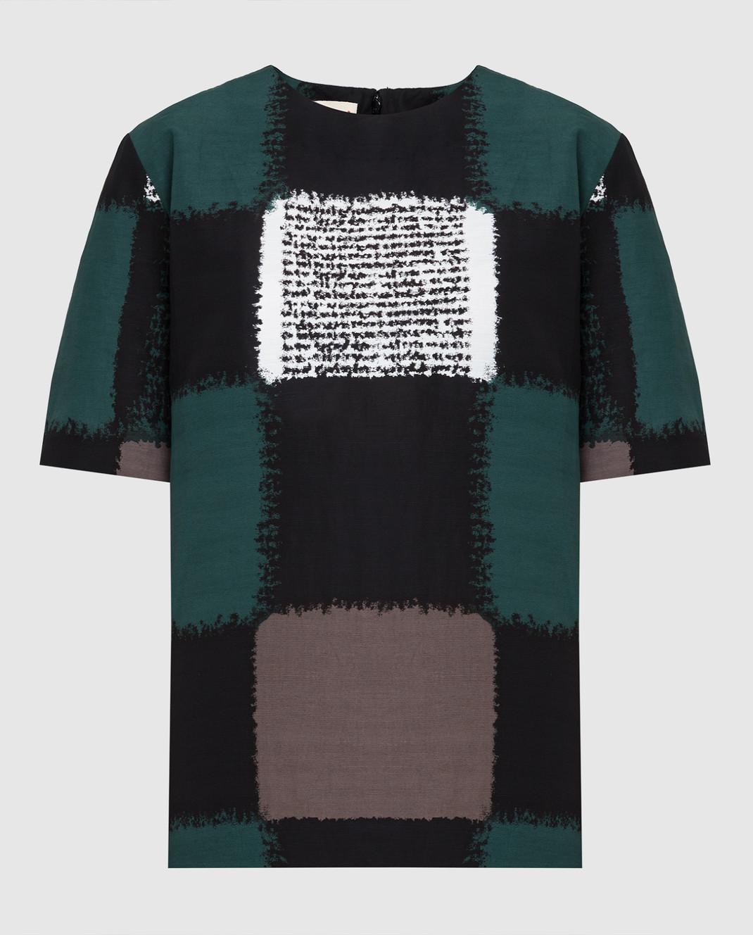 Marni Черная блуза CAMAQ28A00TV395