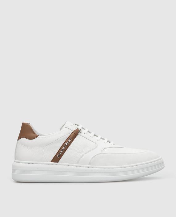 Белые кожаные сникеры