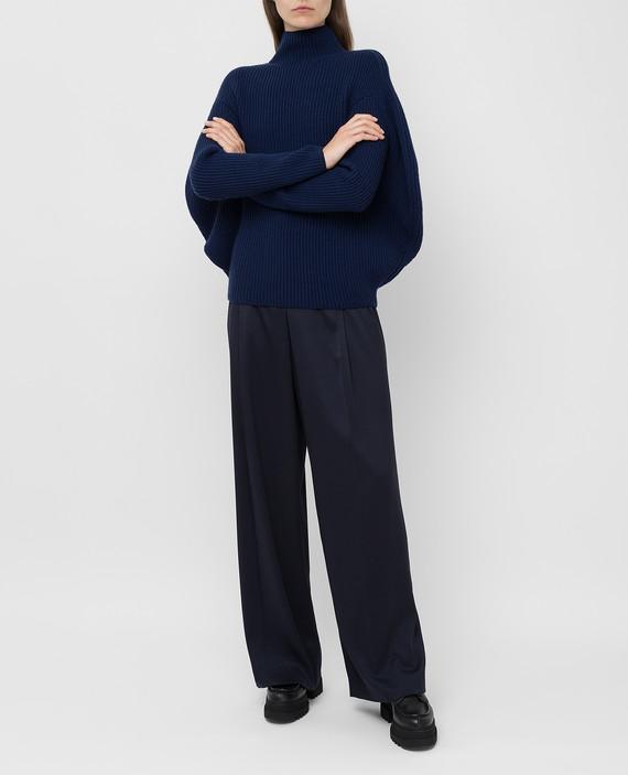 Темно-синий свитер из шерсти и кашемира hover