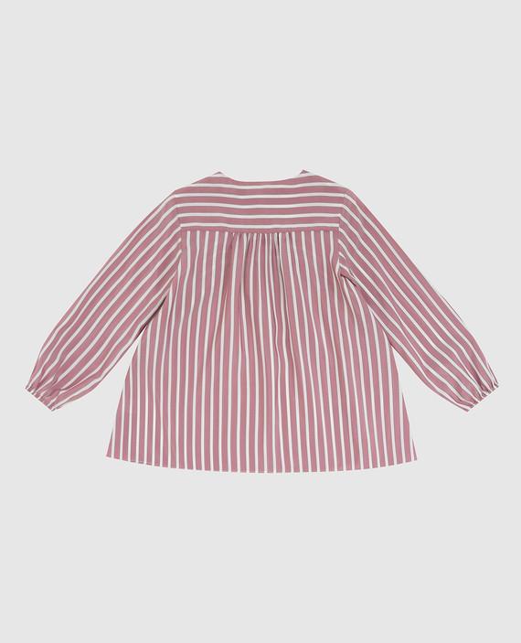 Детская светло-бордовая блуза из шелка hover