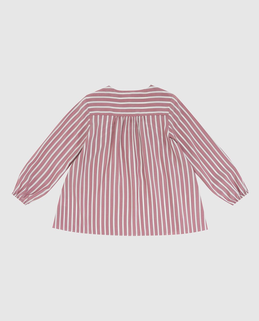 Brunello Cucinelli Детская светло-бордовая блуза из шелка изображение 2