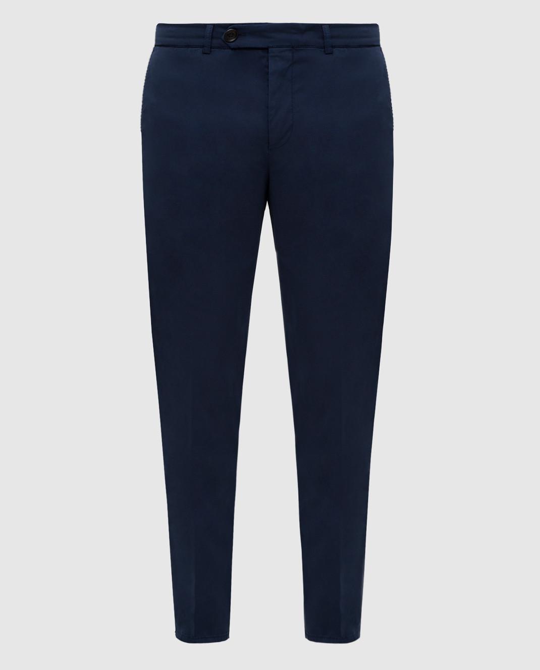 Brunello Cucinelli Темно-синие брюки с карманами M289LT1150