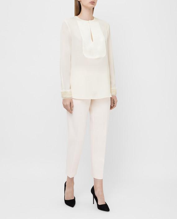 Светло-бежевая блуза hover