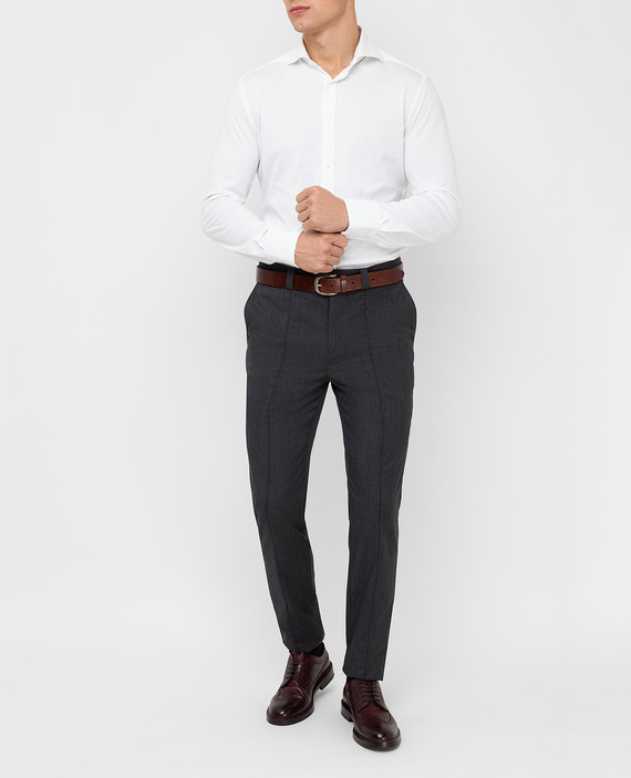 Темно-серые брюки из шерсти hover