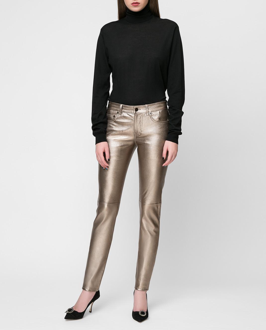 Saint Laurent Золотистые брюки изображение 2