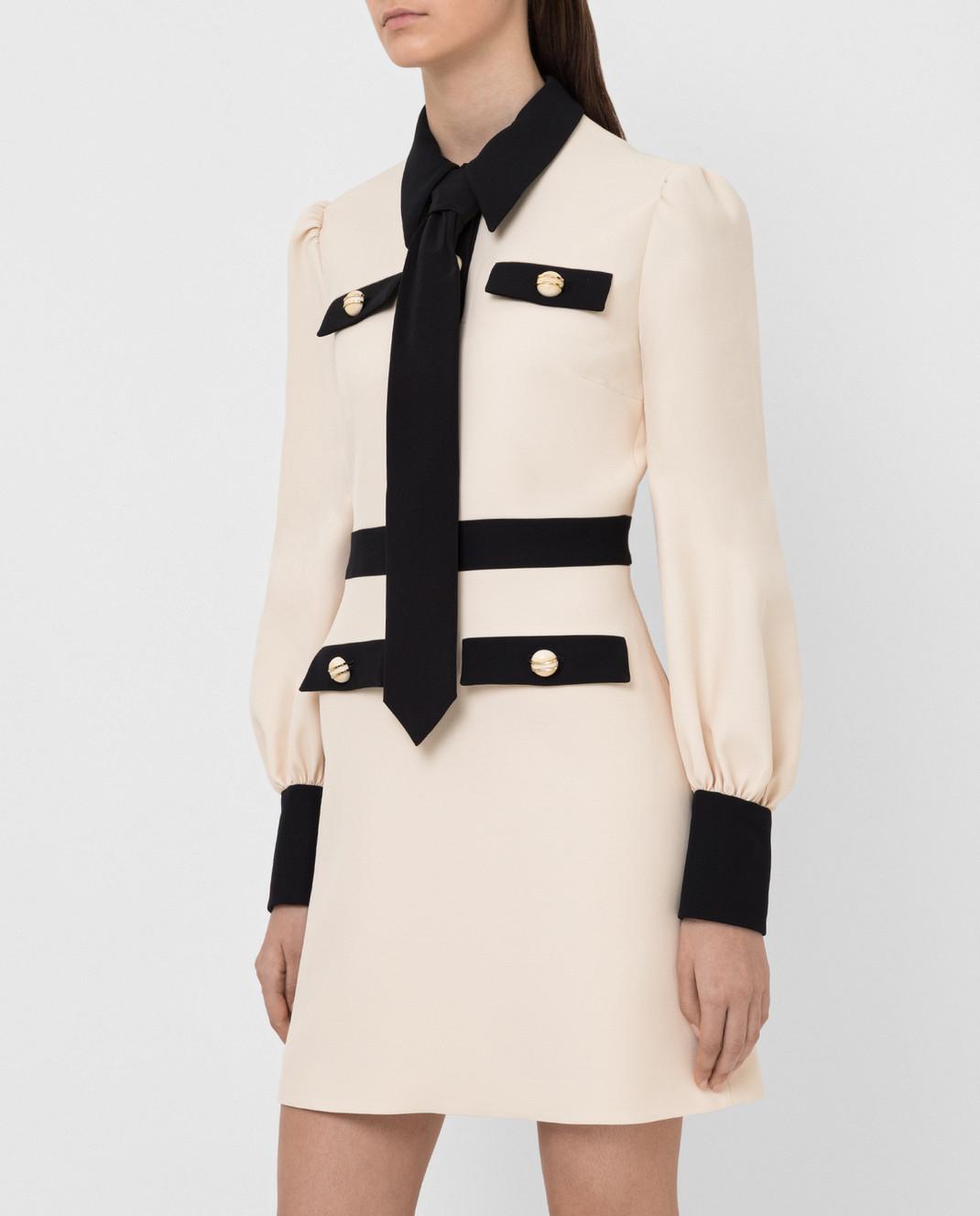 Gucci Светло-бежевое платье 595257 изображение 3