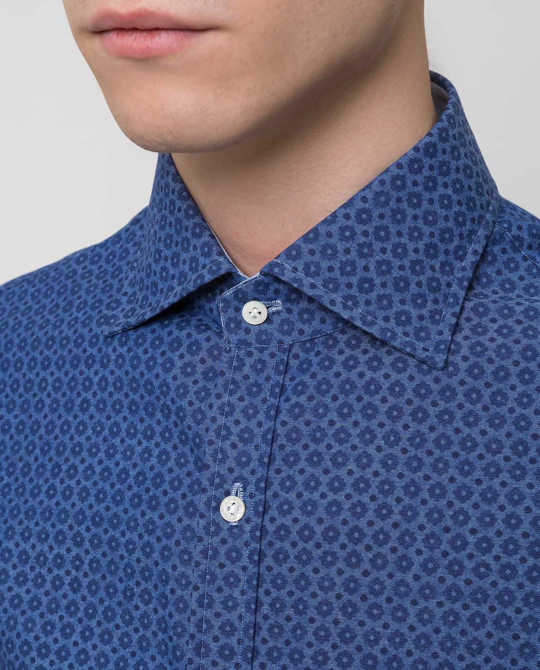 ISAIA Синяя рубашка CAM088C6083 изображение 5
