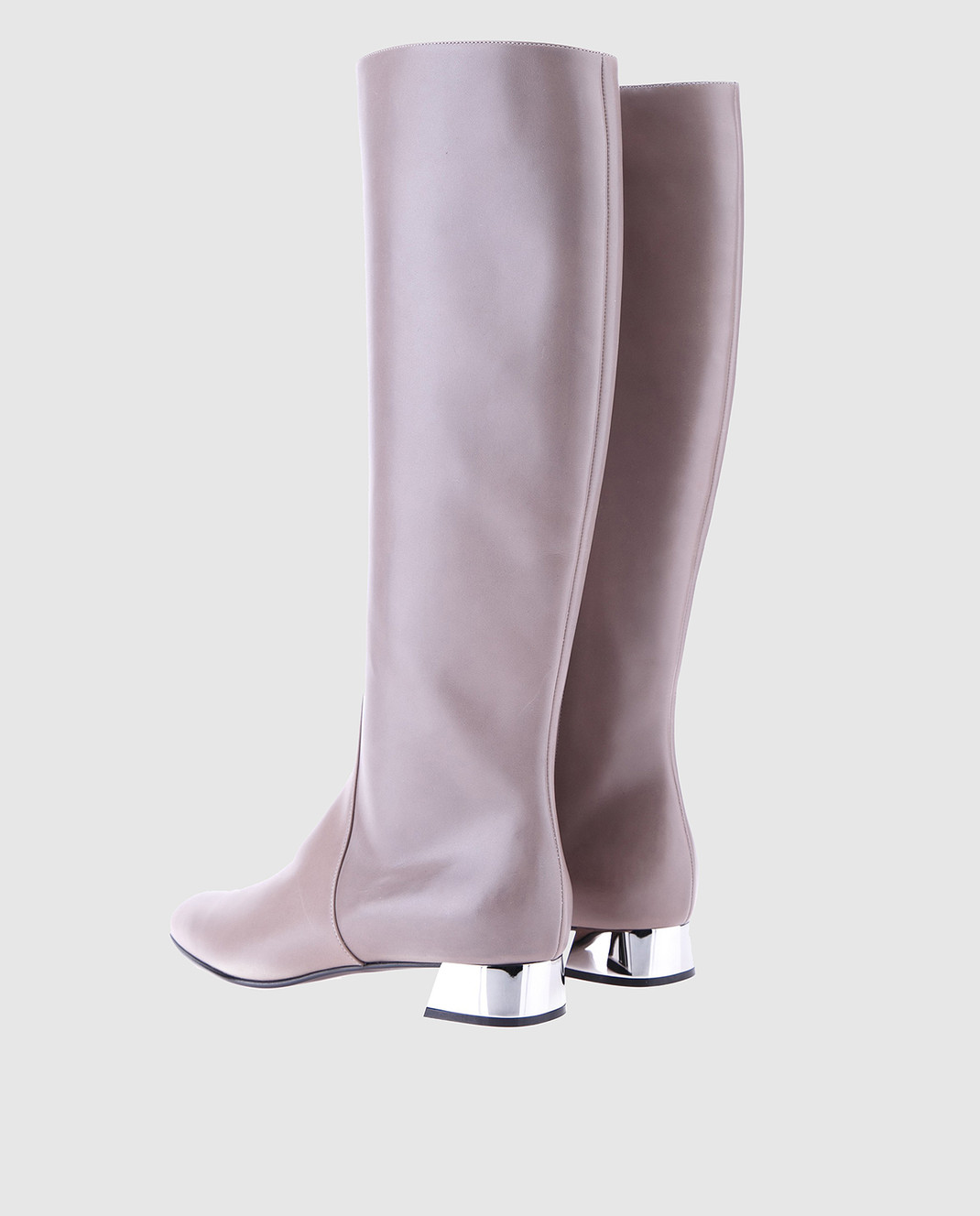 Casadei Серые кожаные сапоги 1S804H020GC915 изображение 3