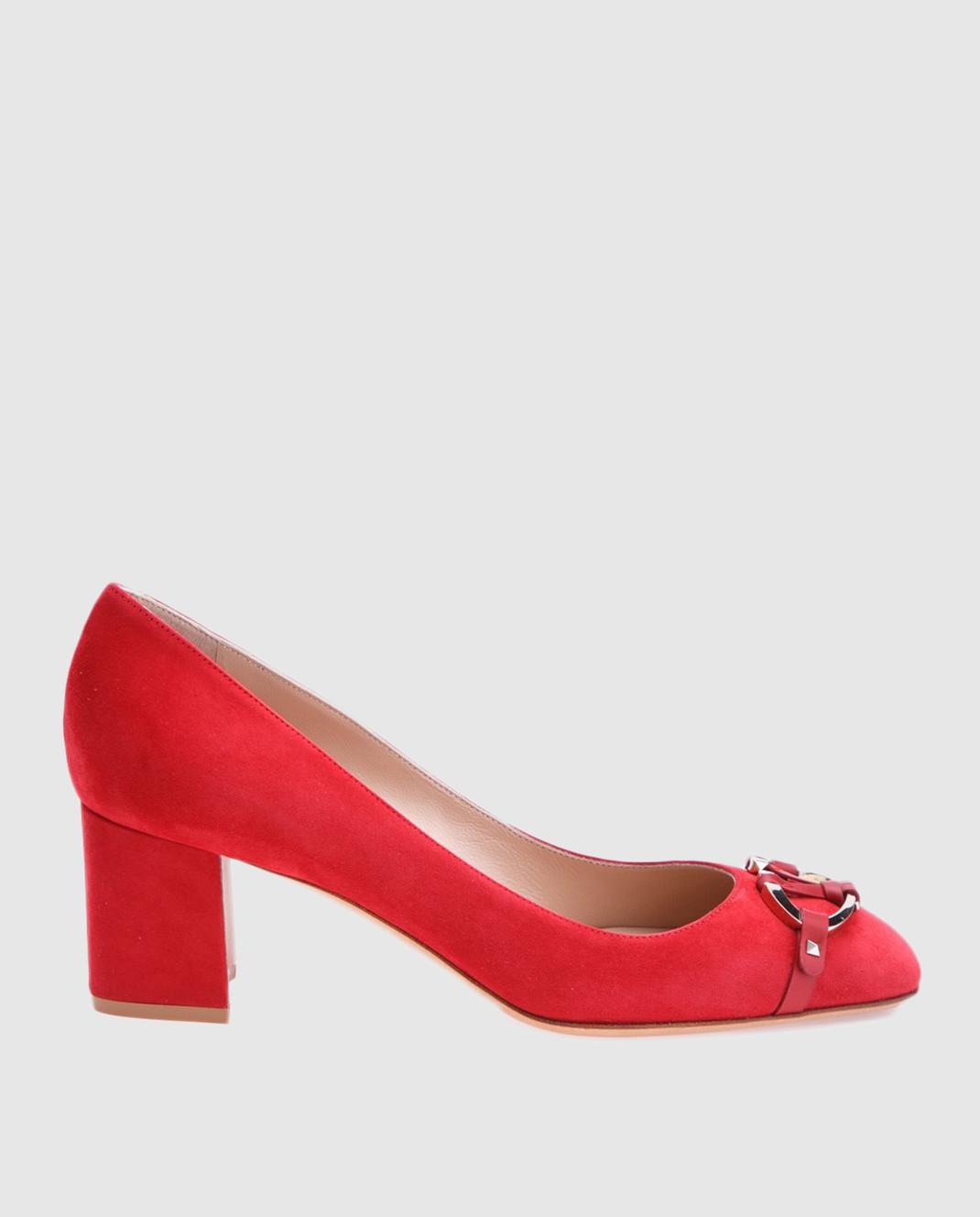Valentino Красные туфли из замши PW2S0E93ZUR