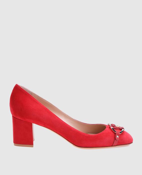 Красные туфли из замши