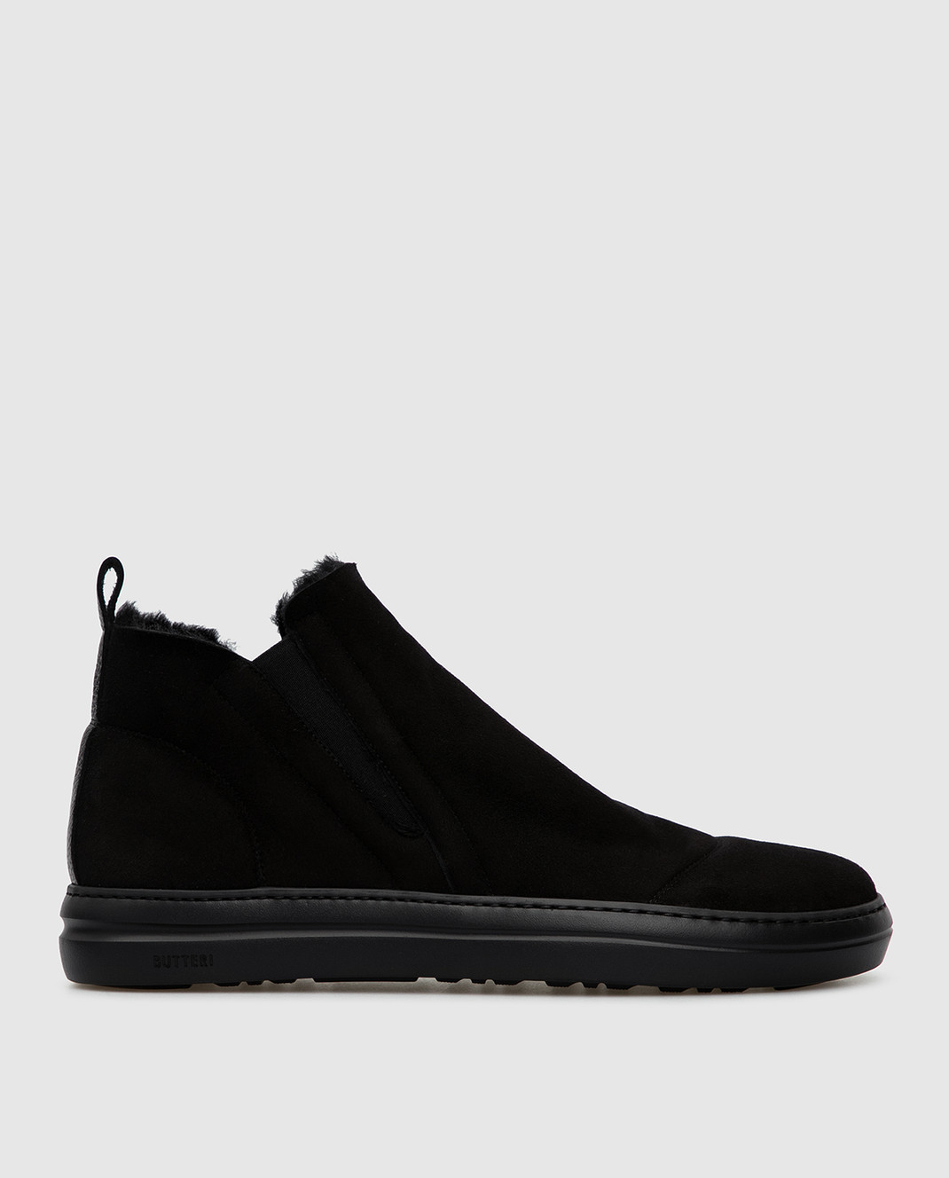 Gianfranco Butteri Черные замшевые ботинки на меху изображение 1
