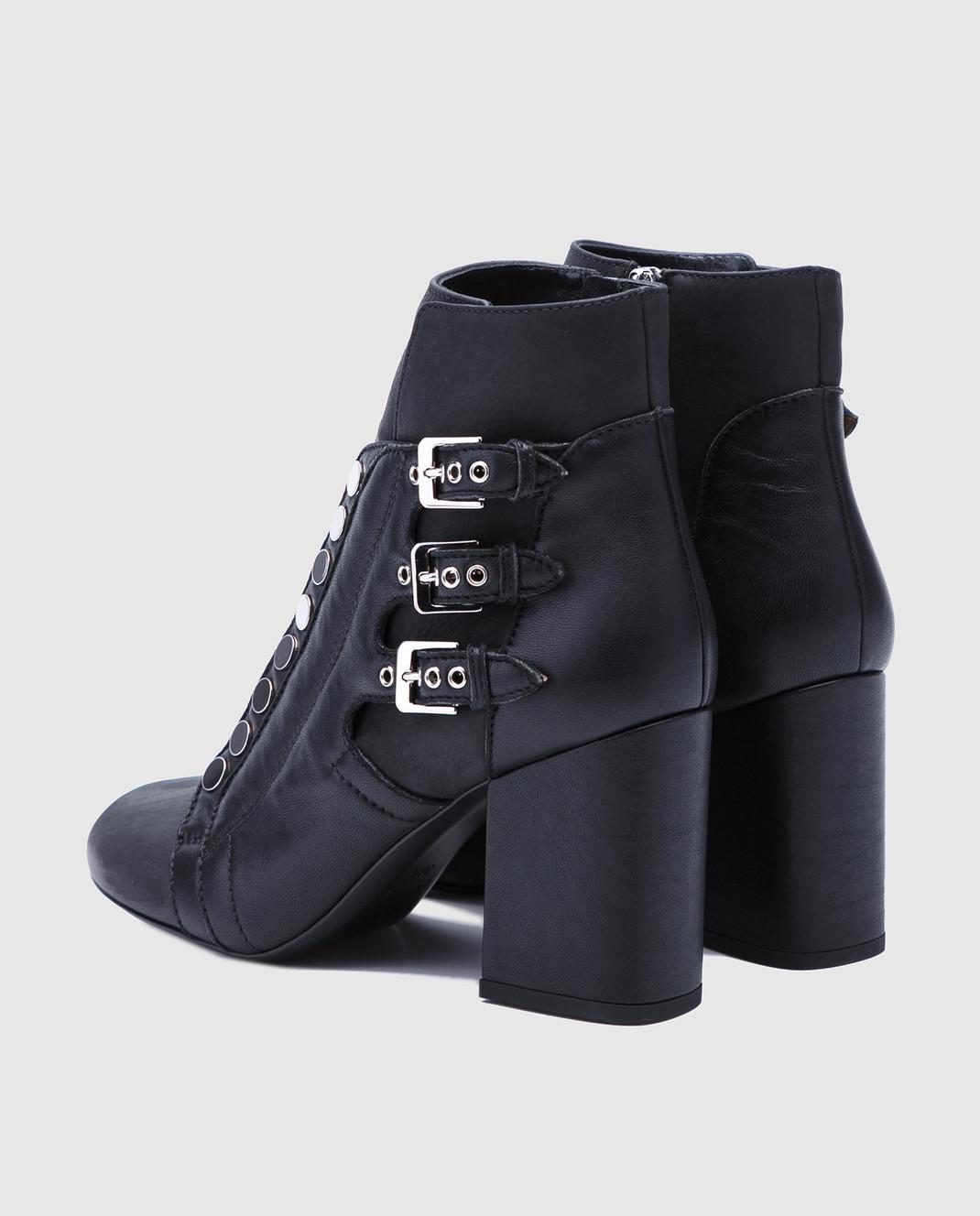 Laurence Dacade Черные кожаные ботильоны Selena SELENA изображение 3