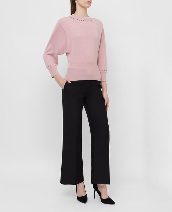 Светло-розовый джемпер из шерсти и кашемира hover