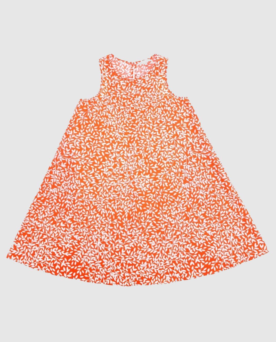 Детское оранжевое платье
