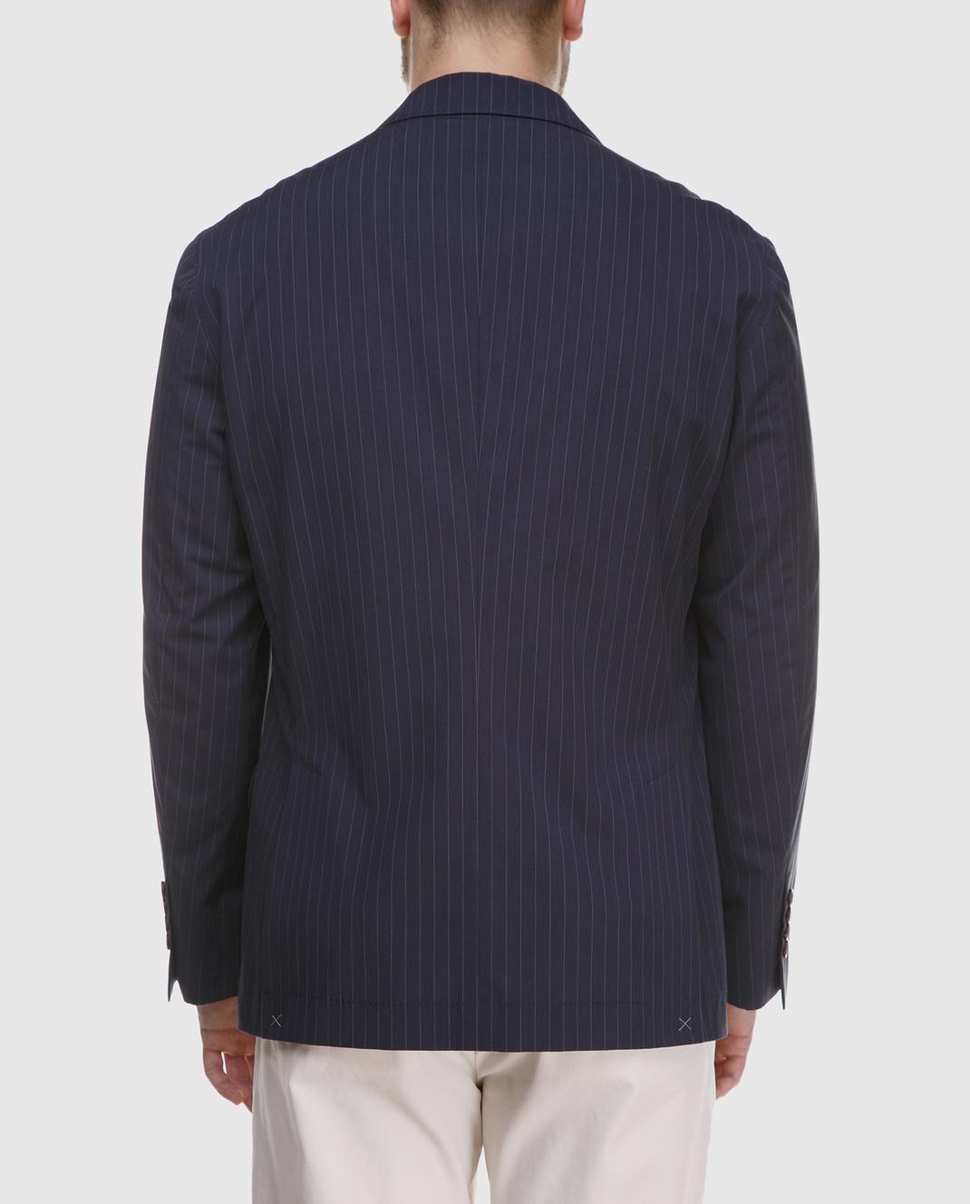 Brunello Cucinelli Синий пиджак MD4037BTD изображение 4