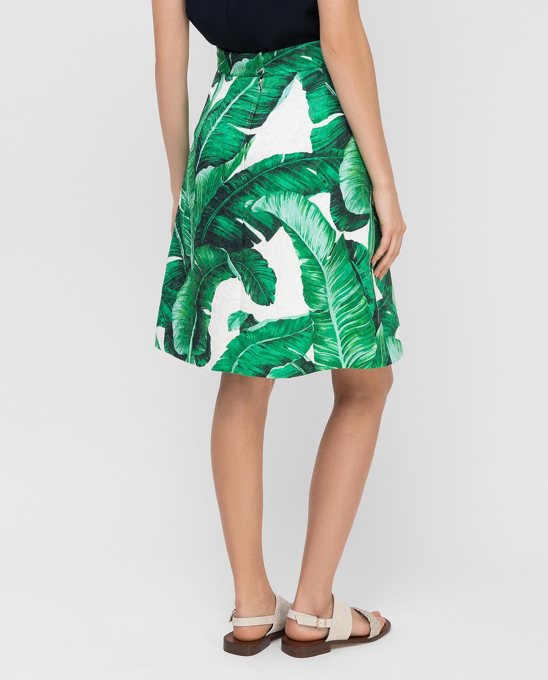 Dolce&Gabbana Зеленая юбка F4AKYTFSMY7 изображение 4