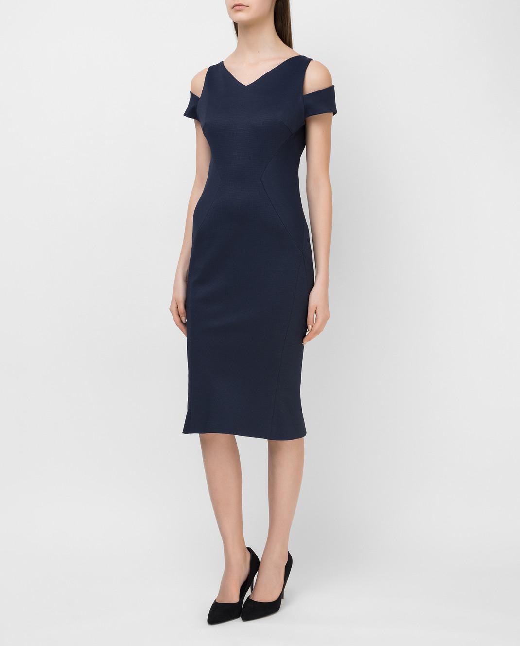 Zac Posen Темно-синее платье 40548253 изображение 3