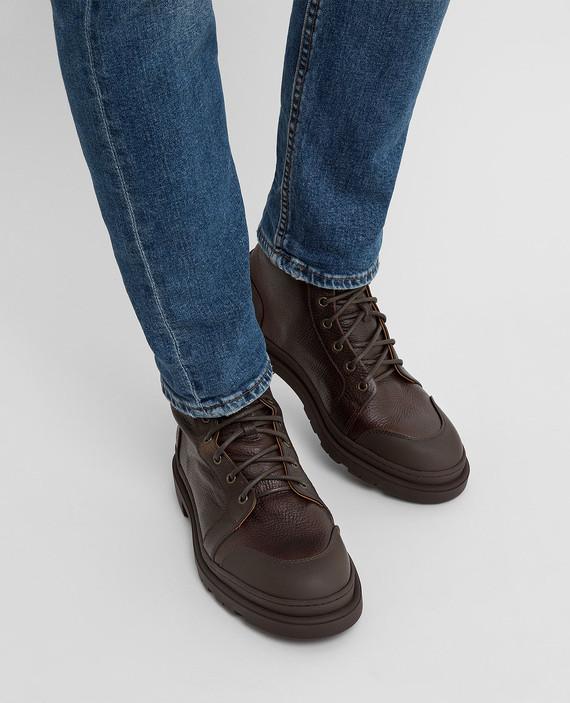Коричневые кожаные ботинки hover