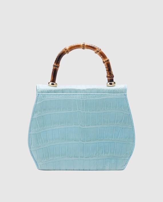 Голубая кожаная сумка hover