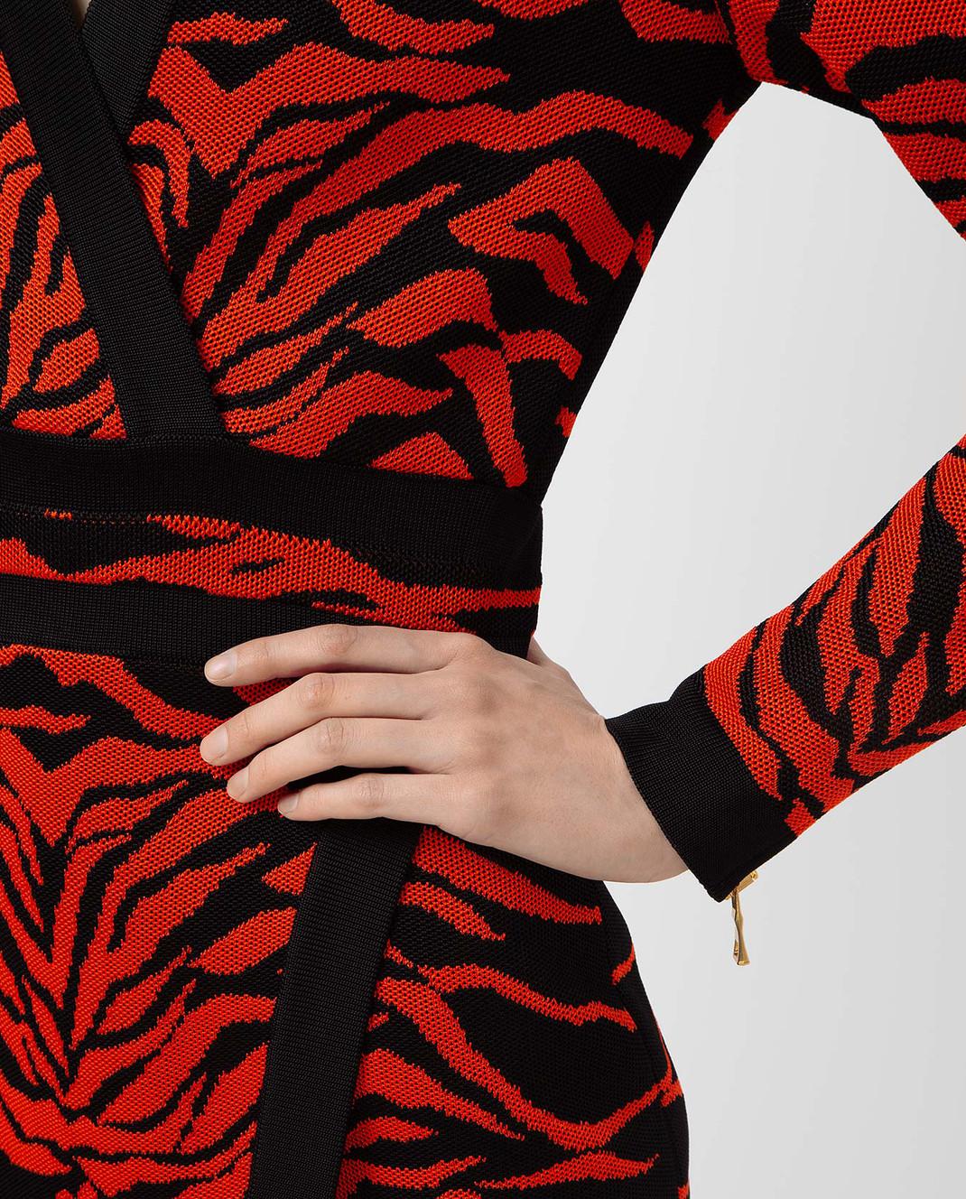 Balmain Оранжевое платье 6975482M изображение 5