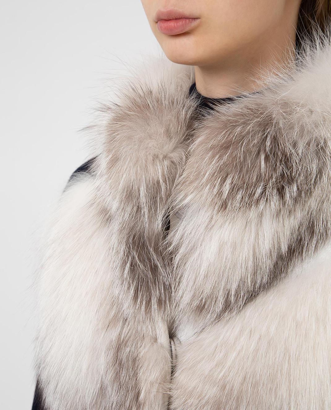 Florence Mode Серый жилет из меха лисы изображение 5