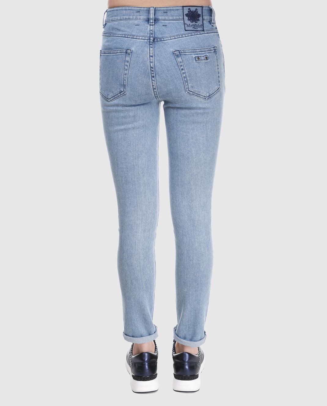 Mr&Mrs Italy Голубые джинсы JE084E изображение 4
