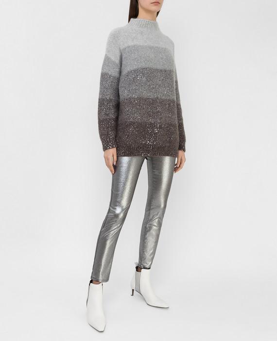 Серебристые джинсы hover