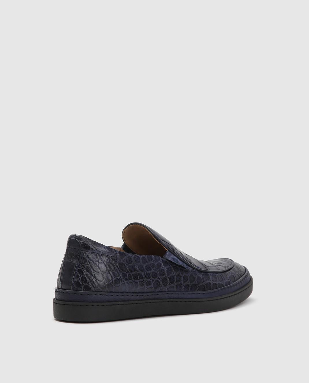 Del Dami Синие туфли из кожи аллигатора изображение 4
