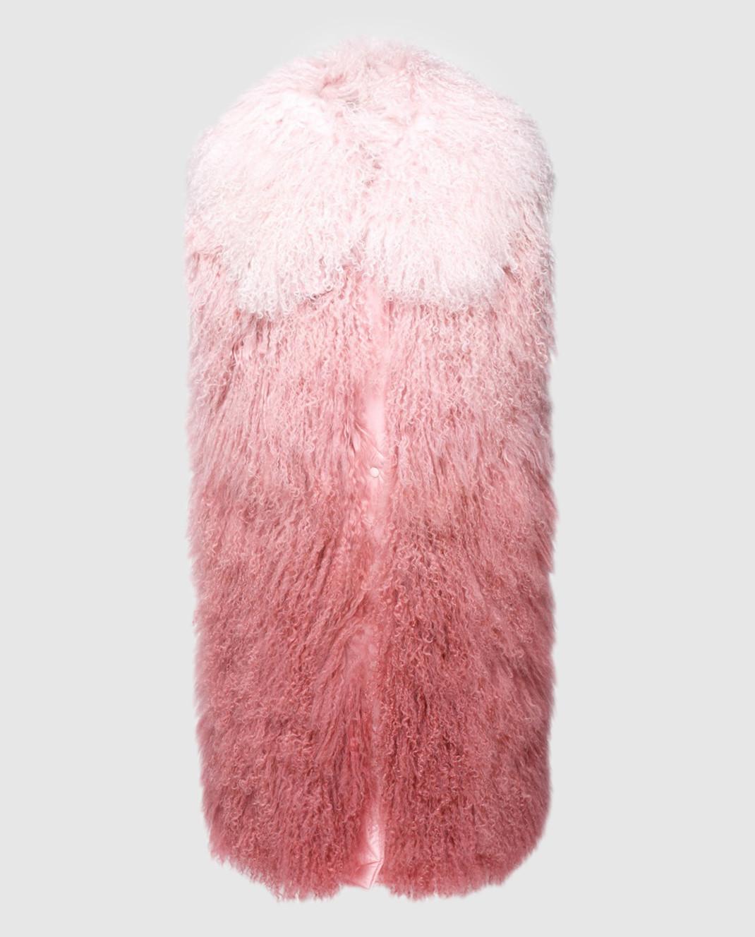 Moncler Розовый жилет из меха ягненка 48938