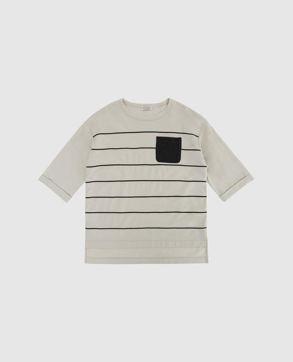Детская светло-бежевая футболка