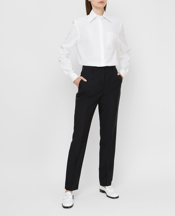 Черные брюки из мохера и шерсти hover