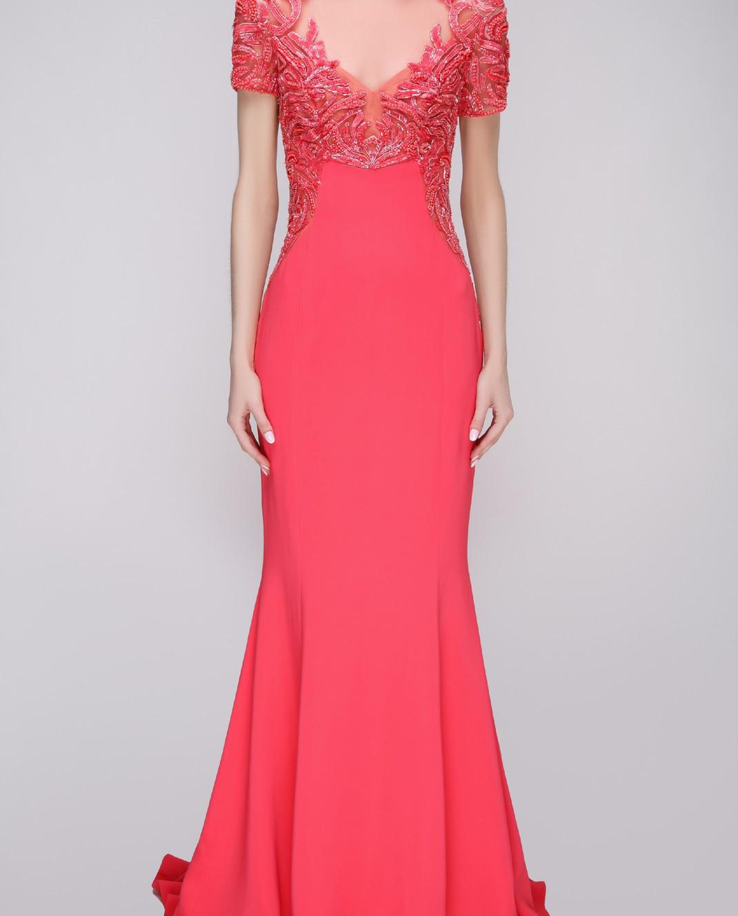 Zuhair Murad Розовое платье RDPF15029DL99 изображение 3