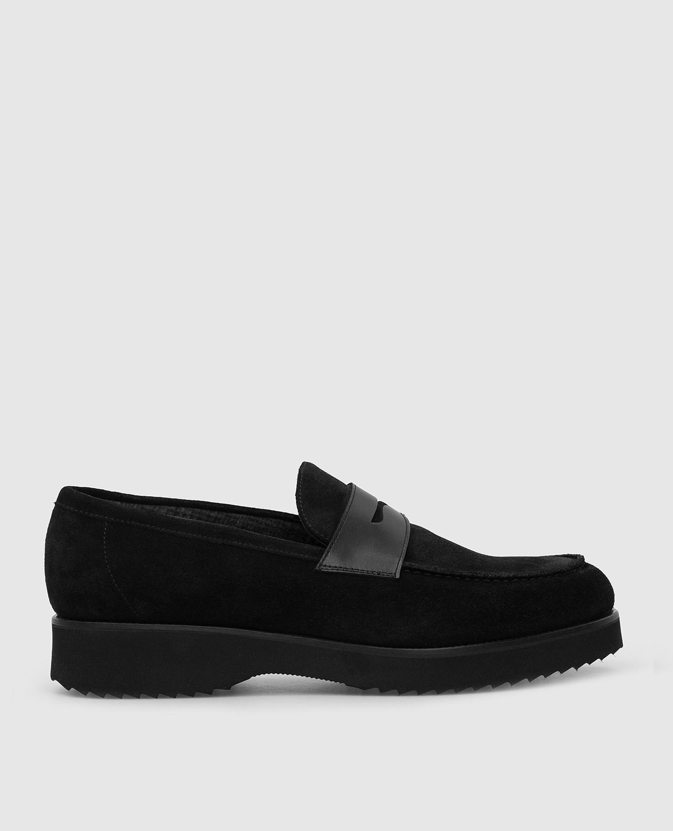 Черные замшевые лоферы Doucal's