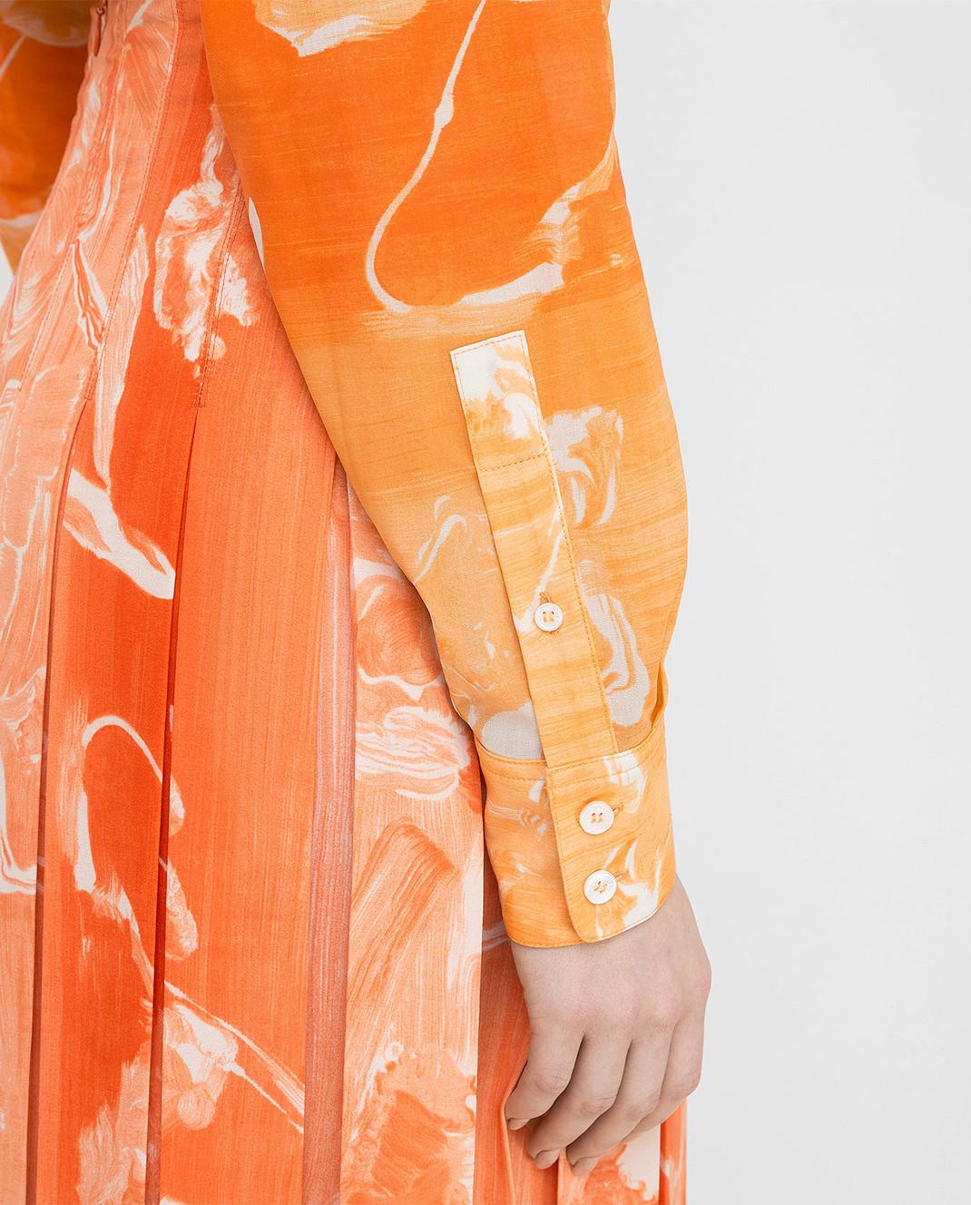 Victoria Beckham Оранжевая рубашка SHLNG1354E изображение 5