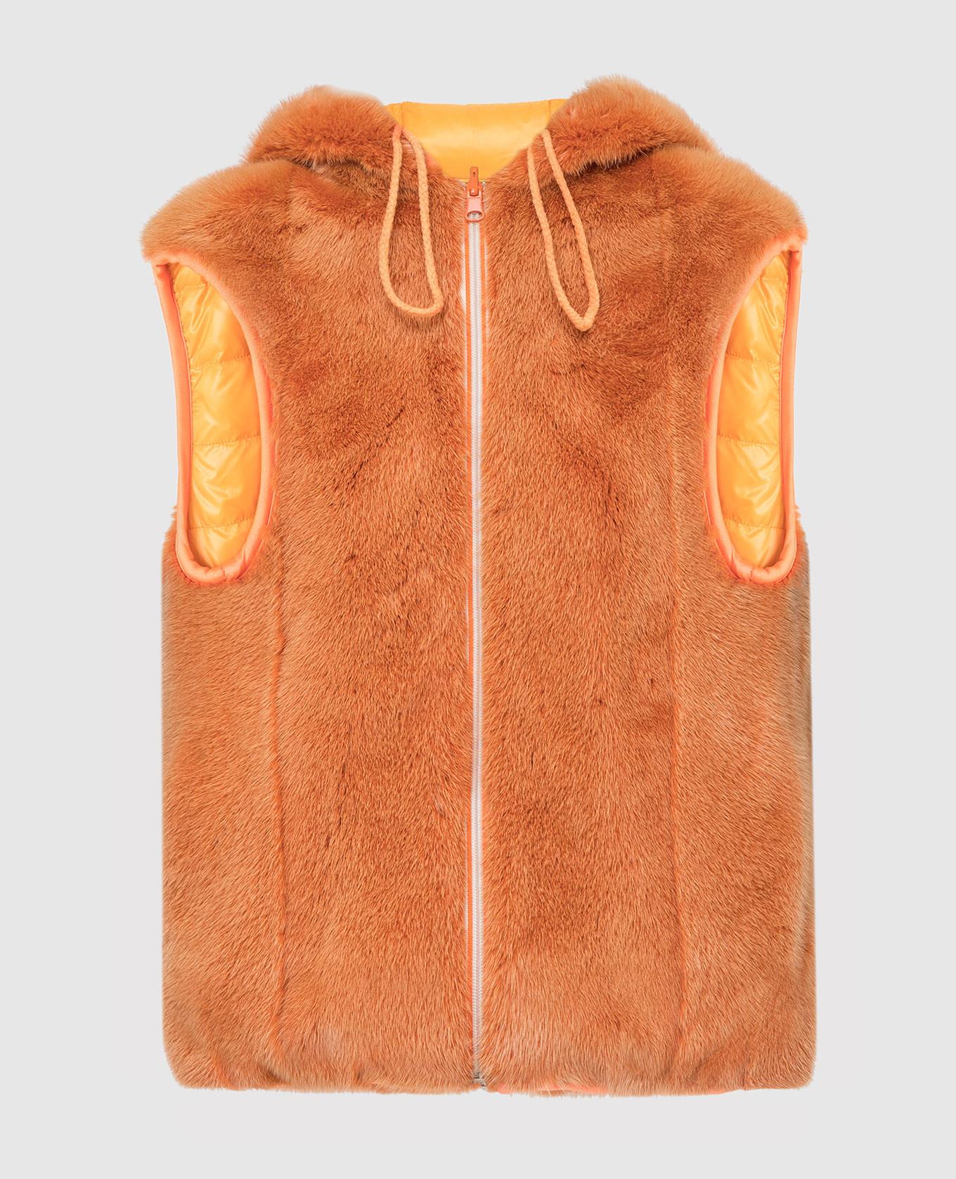 Оранжевый двухсторонний жилет