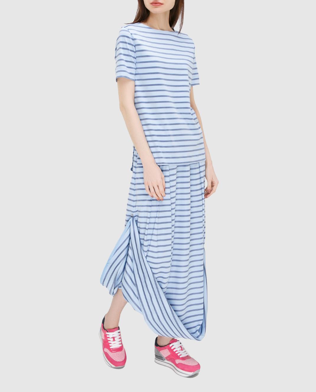Ereda Голубая юбка 241498L изображение 3