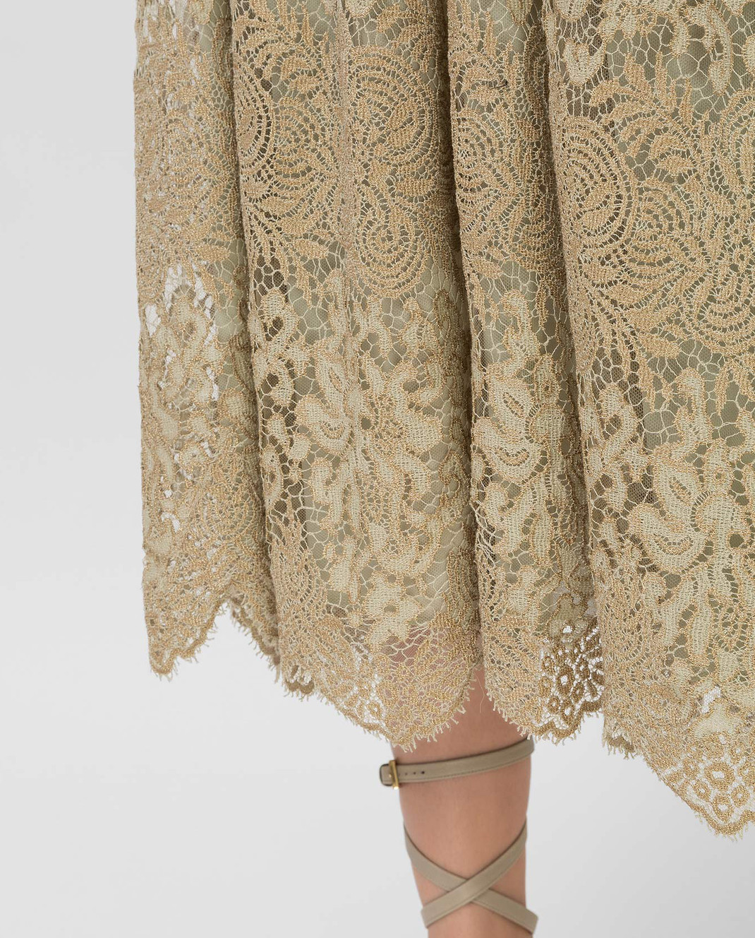 Valentino Бежевая юбка KB3RA135285 изображение 5